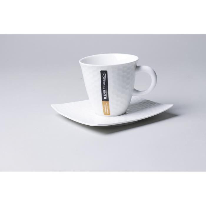 TABLE PASSION - TASSE / SOUS TASSE CAFE 10 CL D...