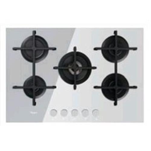 Whirlpool GOA 7523-WH, Intégré, Cuisinière à gaz, Verre, Blanc, Fonte, Rotatif