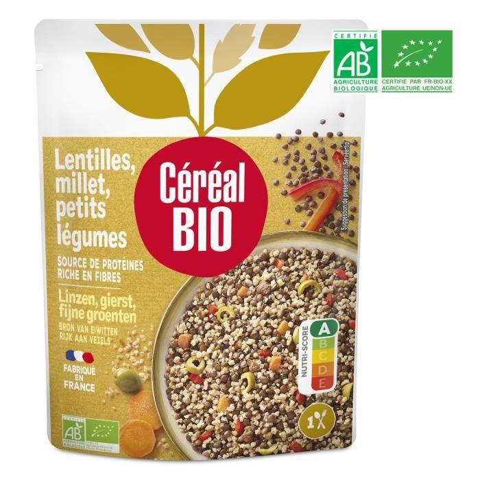 CEREAL BIO Lentilles et millet cuisinées Bio - 250 g