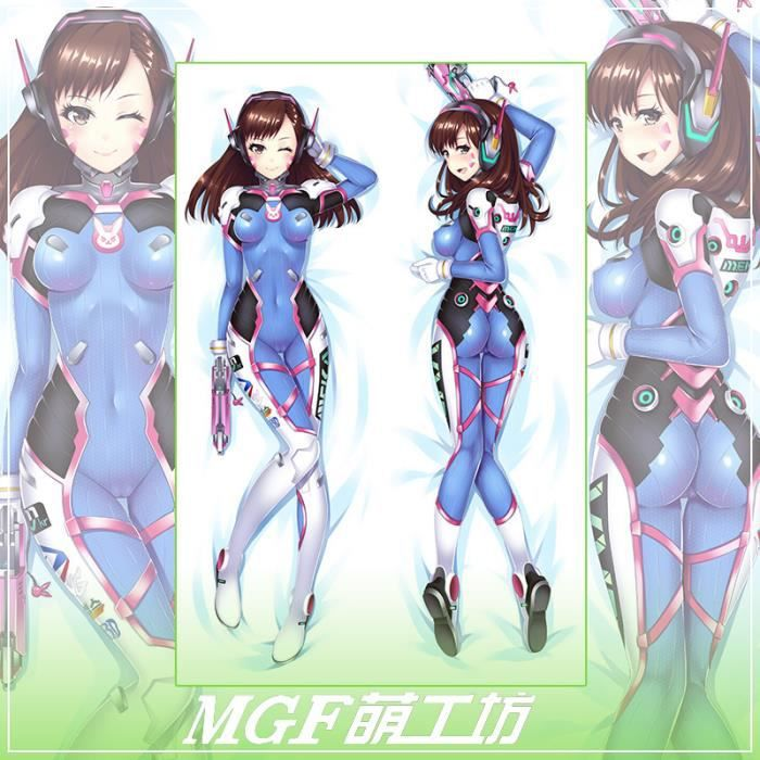 150 50cm sexy overwatch over watch dva d va dakimakura body taie d 39 oreiller une taie achat. Black Bedroom Furniture Sets. Home Design Ideas