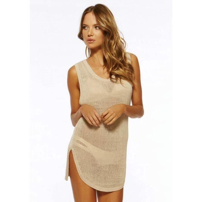 Robe De Plage Femme Pareo D Ete Ajoure Sarong Maille Gilet Sans Manches Tunique Sexy Blouse Achat Vente Robe De Plage 2009765047839 Cdiscount