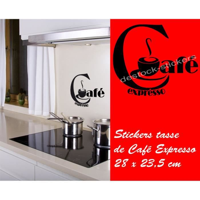 stickers pour cuisine tasse a cafe achat vente stickers pour cuisine tasse a cafe pas cher. Black Bedroom Furniture Sets. Home Design Ideas