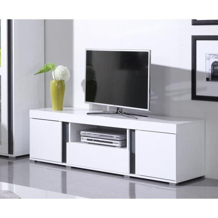 meuble de salon avignon meuble tv 1 vitrine achat vente salon complet cdiscount. Black Bedroom Furniture Sets. Home Design Ideas