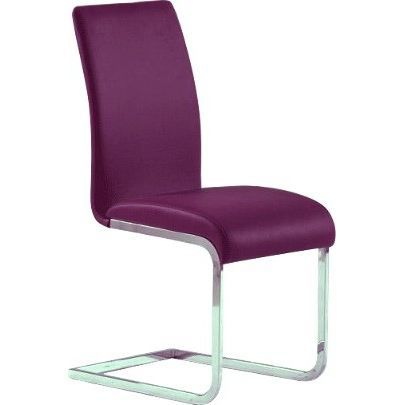 Chaise de s jour pu couleur prune achat vente chaise for Chaise prune