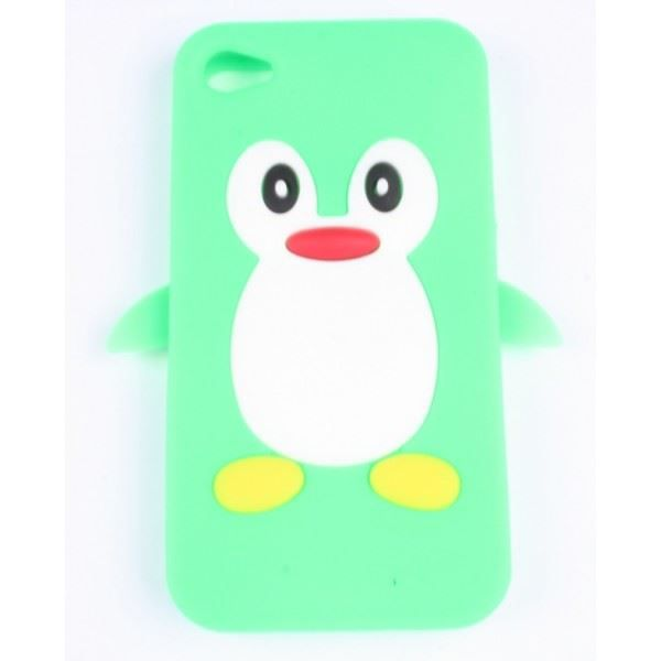 coque iphone 4 4s verte pingouin silicone achat coque bumper pas cher avis et meilleur. Black Bedroom Furniture Sets. Home Design Ideas