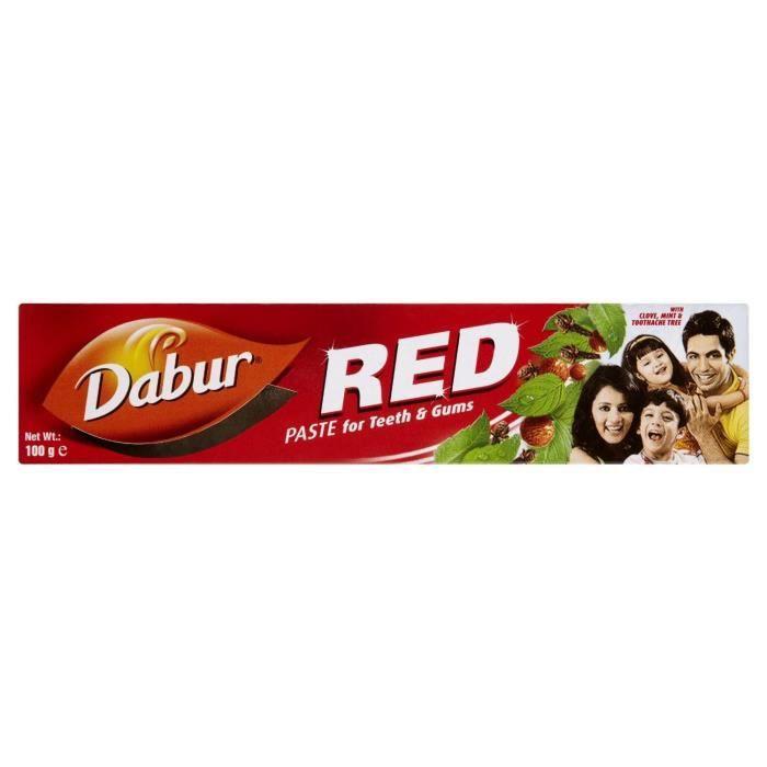 DENTIFRICE Dabur - Dentifrice rouge - lot de 2 tubes de 100 g