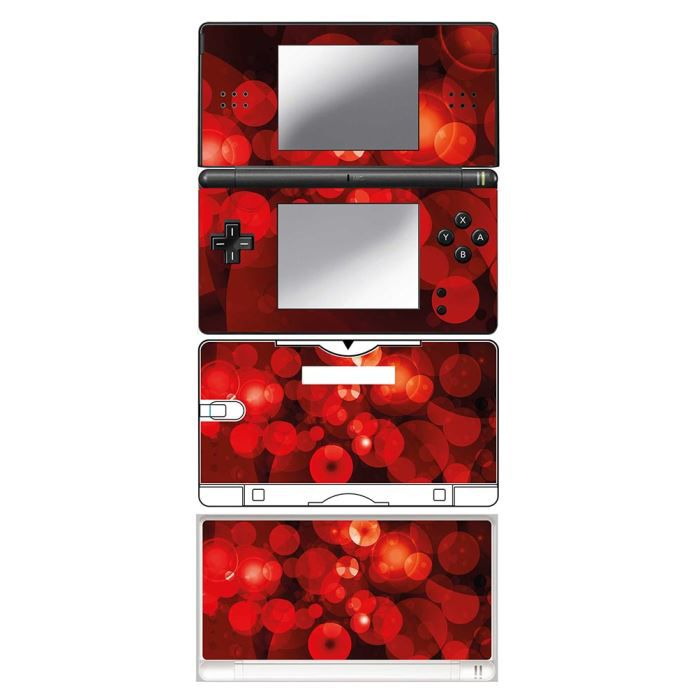skin stickers pour nintendo ds lite sticker globules rouges achat vente protection ecran. Black Bedroom Furniture Sets. Home Design Ideas