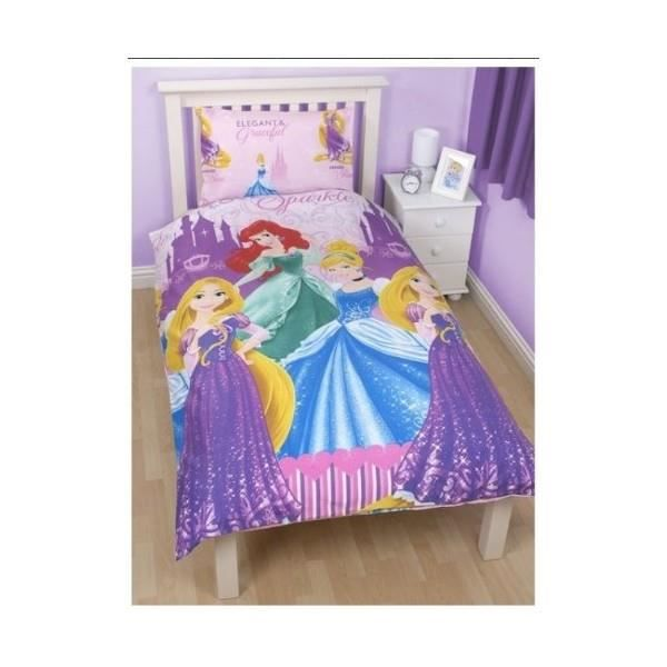 housse de couette princess disney achat vente housse de couette cdiscount. Black Bedroom Furniture Sets. Home Design Ideas