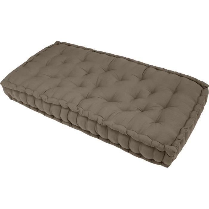 matelas de sol taupe 120x60x15 cm achat vente coussin cdiscount. Black Bedroom Furniture Sets. Home Design Ideas
