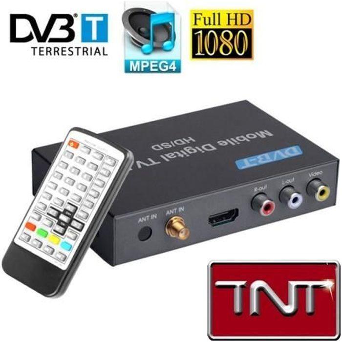 RÉCEPTEUR - DÉCODEUR   Récepteur TNT pour la voiture + Lecteur HD 1080P T