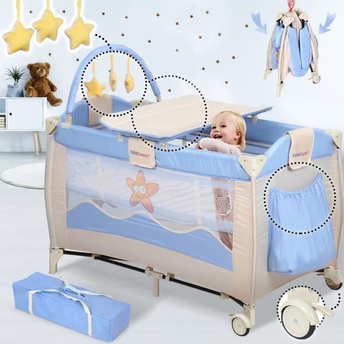 Bébé Pliable Berceau lit de voyage Moustiquaire Infant Sleeping Panier Avec Jouets
