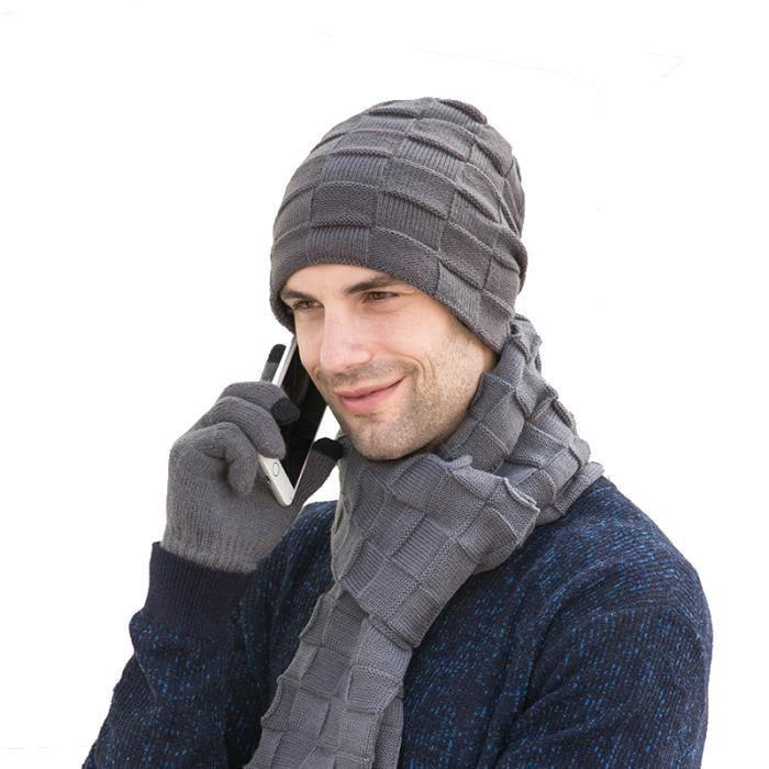 COTOP 4 LED tricot/é Chapeau l/éger Bonnet Chaud Bonnet Hommes et Femmes Trois l/ég/èret/é Couleur Unie Stretchy /& Soft v/élo Camping randonn/ée en Plein air Coiffe Rechargeable