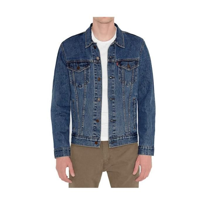 veste en jeans levi 39 s trucker stone bleu achat vente. Black Bedroom Furniture Sets. Home Design Ideas