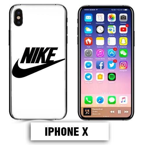coque iphone x logo nike