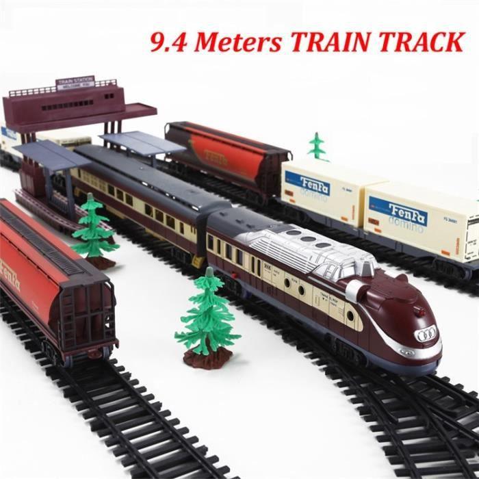 VOITURE - CAMION  Long Train à vapeur 9.4 metros voie ferrée électr