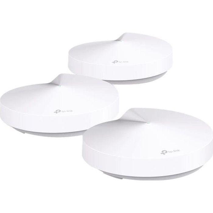 TP-LINK Pack de 3 Decos M5 Système Wi-Fi complet Sécurité haut niveau Couverture Wi-Fi jusqu'à 400m²