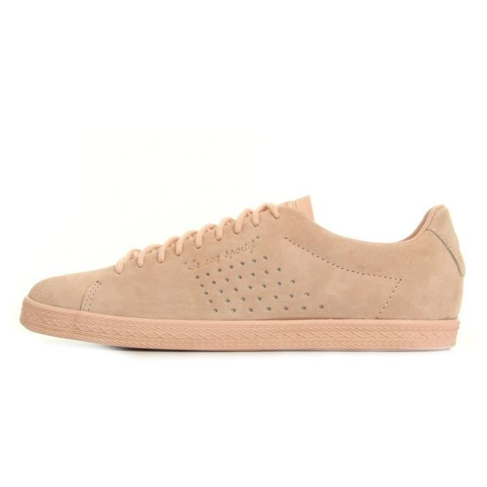 Baskets Le Coq Sportif Charline Nubuck Rose Cloud