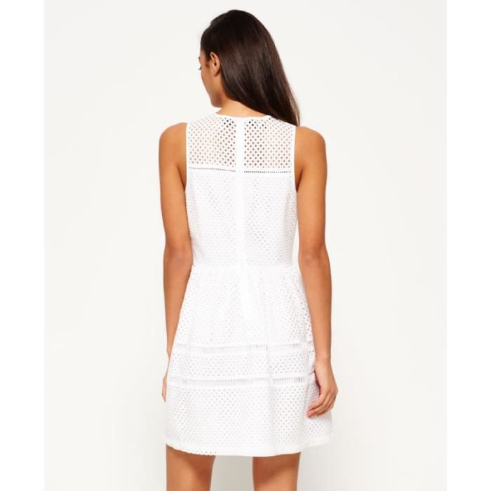 Robe Superdry Geo Lace Mix Skater Optic White