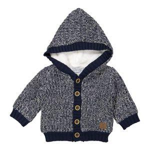 GILET - CARDIGAN DIRKJE Cardigan à Capuche Bleu Marine Chiné Bébé G