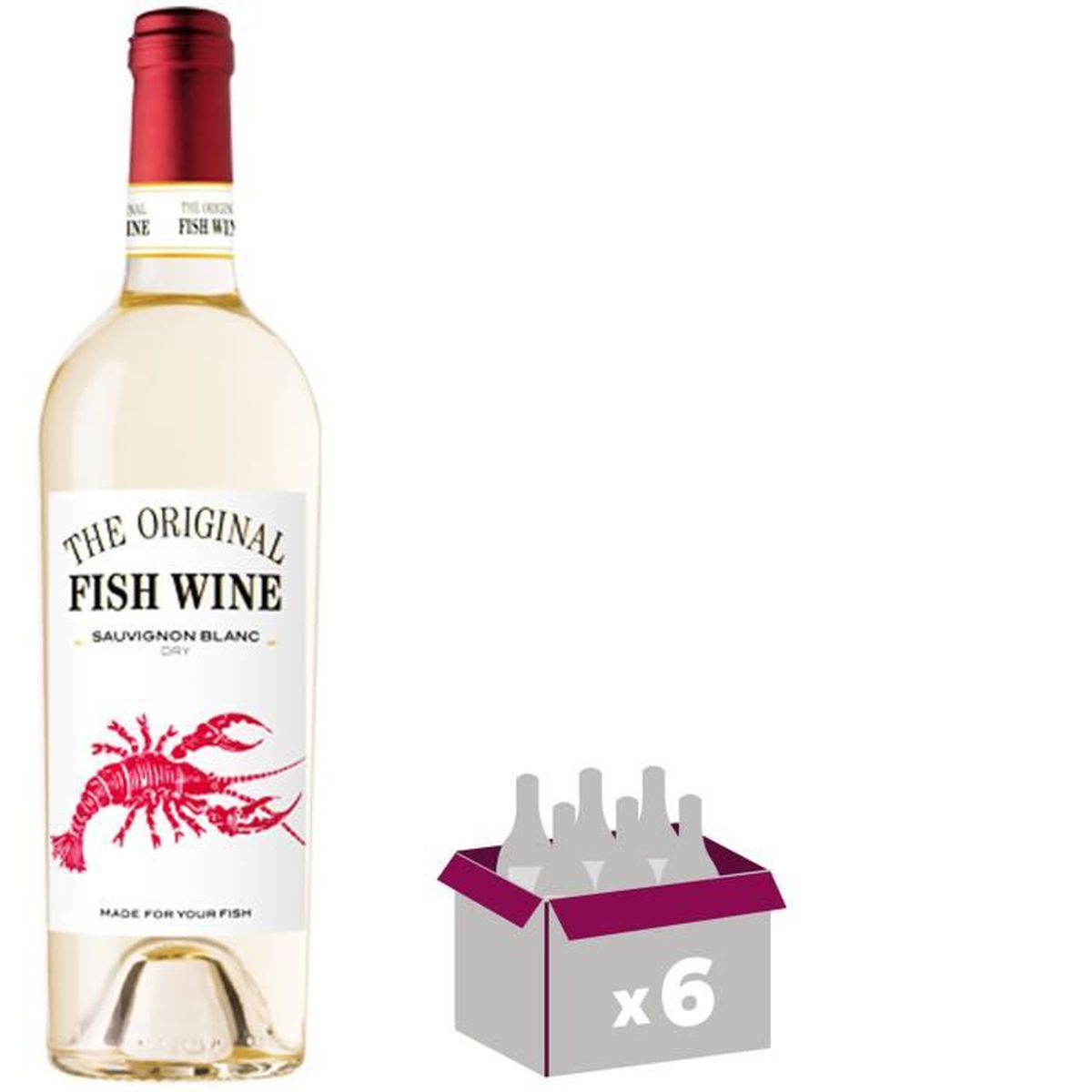 THE ORIGINAL FISH WINE Sauvignon Vin du Chili - Blanc - 75 cl x 6 ... 6cacbaf76211