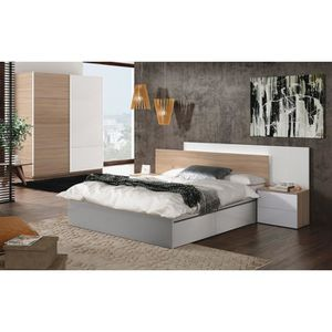 tete de lit avec chevet achat vente pas cher. Black Bedroom Furniture Sets. Home Design Ideas