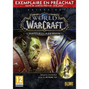 JEU PC World of Warcraft Extension: Battle for Azeroth Pr