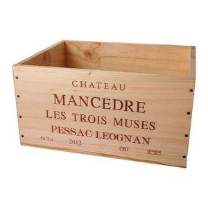 COFFRET CADEAU VIN La Caisse Bois 6x75cl estampillé Château Mancèdre