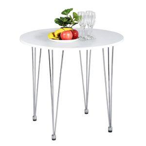 TABLE À MANGER SEULE Table à manger Ronde 2 à 4 personnes - Style Milie
