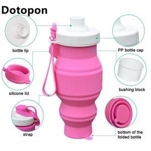 PIÈCE POUR FAIT-MAISON  Dotopon rose Boire rétractable silicone Portable p