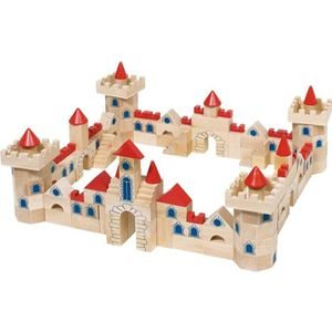 ASSEMBLAGE CONSTRUCTION Jeu de construction en bois Château 145 pièces