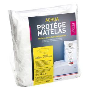 PROTÈGE MATELAS  Protège matelas 90x200 cm ACHUA  - Molleton 100% c