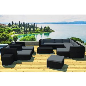 salon de jardin 12 places achat vente salon de jardin 12 places pas cher cdiscount. Black Bedroom Furniture Sets. Home Design Ideas
