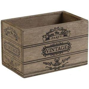 OBJET DÉCORATIF Cagette vintage: Naturel (x2) REF/5271