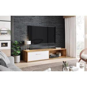 MEUBLE TV VIVALDI Meuble TV - SIMPLE - 140 cm - chêne wotan