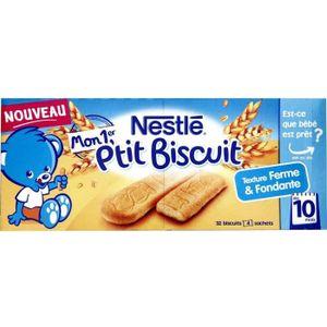 BISCUIT BÉBÉ NESTLÉ Mon 1er P'tit biscuit 4 sachets - 180 g - D