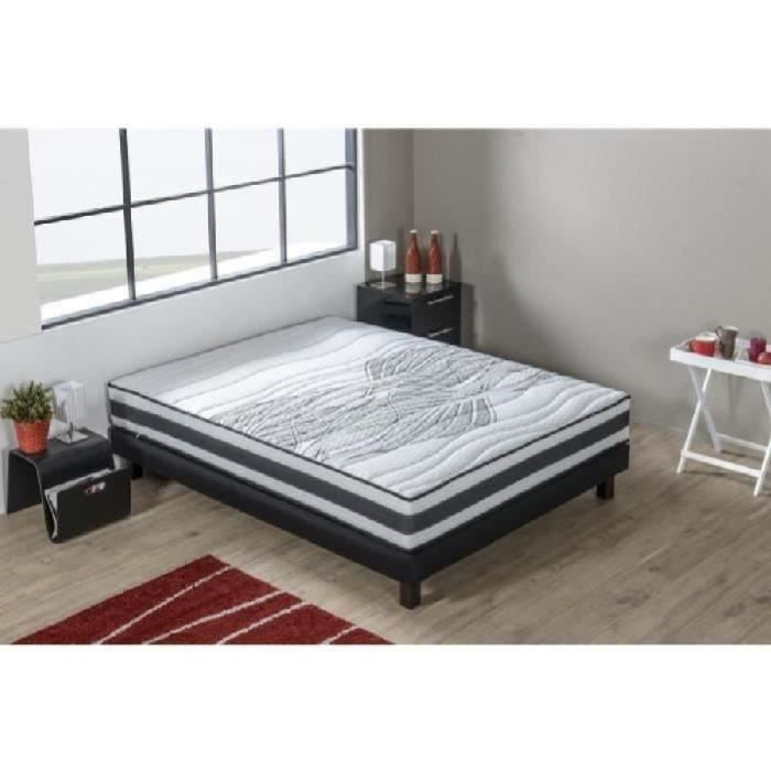 air gel actif ensemble matelas sommier 140x190 cm m moire de forme et ressorts ferme 45. Black Bedroom Furniture Sets. Home Design Ideas