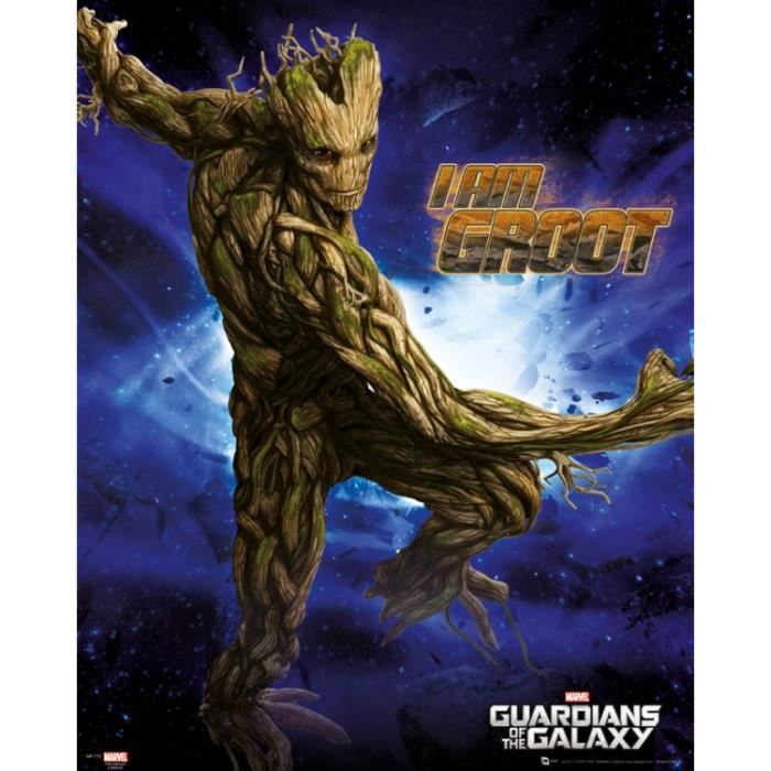les gardiens de la galaxie mini poster groot achat vente affiche cdiscount. Black Bedroom Furniture Sets. Home Design Ideas