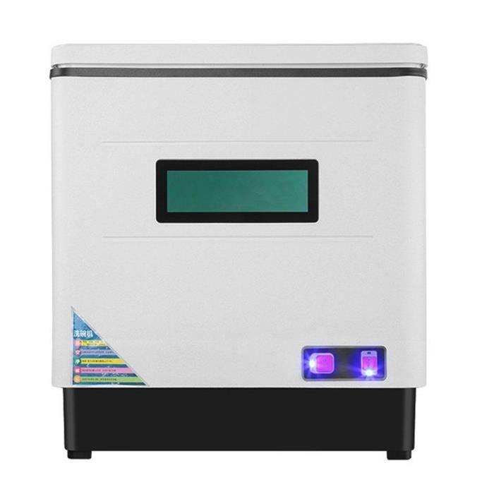 Lave-vaisselle Compact Mini Lave-vaisselle -- Lavage 360°, Séchage UV Haute Température Moyenne Température, Économie d'eau,