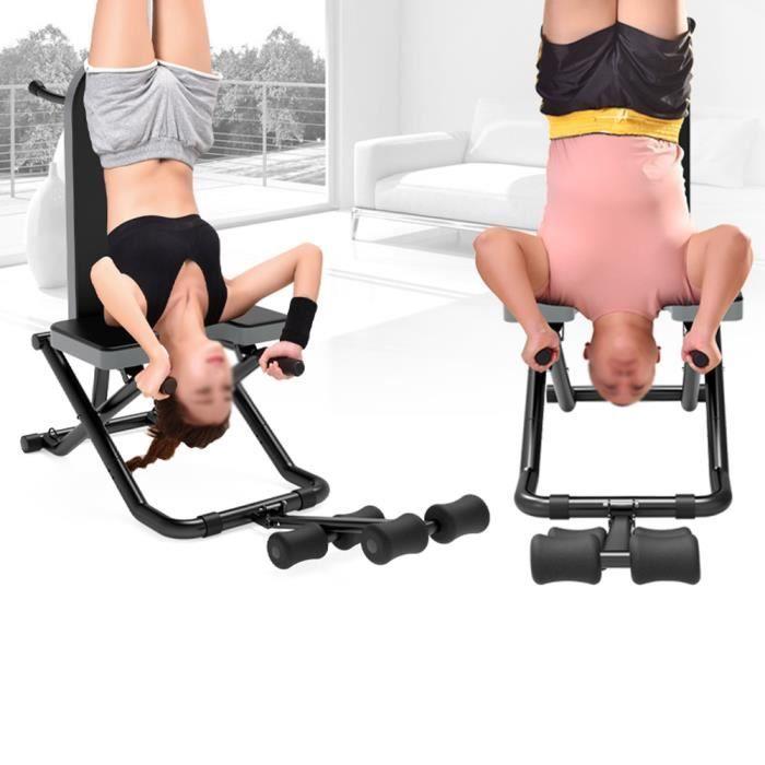 NOUVEAU Table d'Inversion Pliable Musculation Appareil du Dos Bras Sport Exercice -KEL