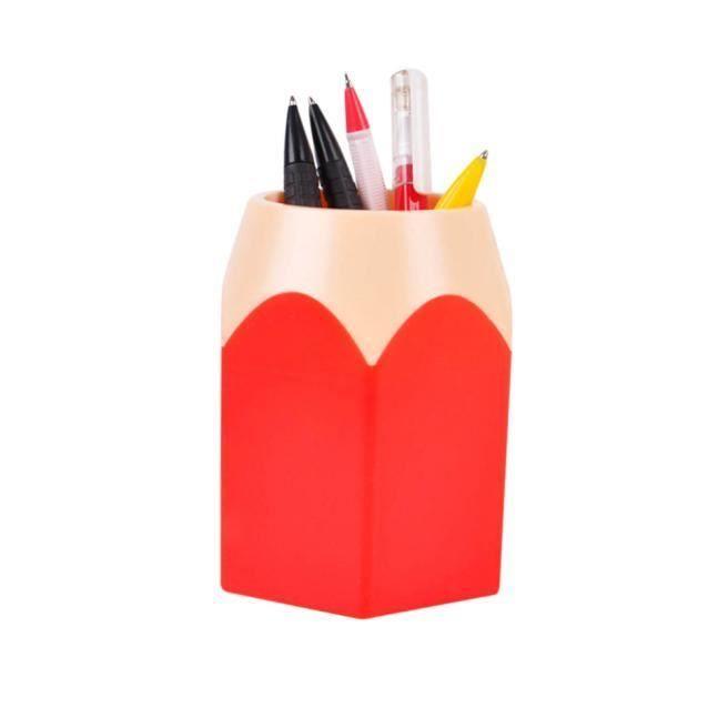 Maquillage Brosse Vase Crayon Pot Pot Stylo Porte Papeterie Stockage RD LXX51217201RD_moc
