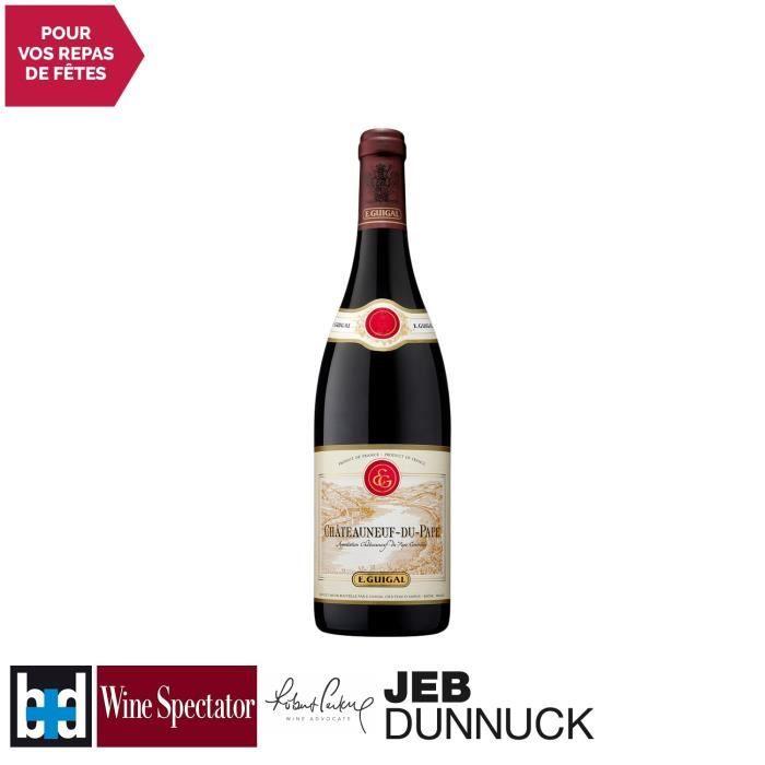Châteauneuf-du-Pape Rouge 2016 - 75cl - Maison Guigal - Vin AOC Rouge de la Vallée du Rhône - 16.5-20 Bettane Desseauve - Cépages