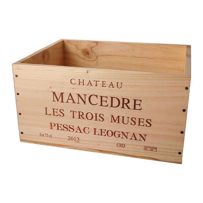 La Caisse Bois 6x75cl estampillé Château Mancèdre - coffret