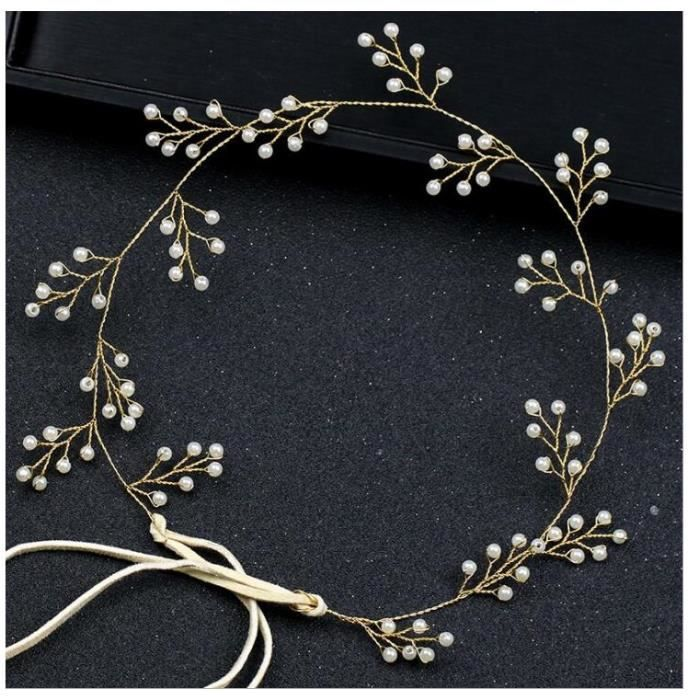 Headband perles accessoire de mariage