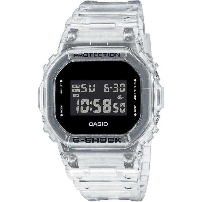 Casio Montre G-SHOCK SKELETON blanche transparente