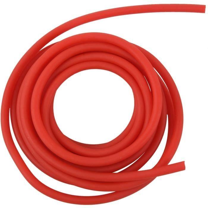 Bande De RéSistance en Caoutchouc d'exercice De Tubes Catapulte Surnommer Lance-Pierres éLastique,Rouge 2.5M