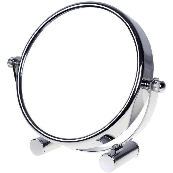 MIROIR DE SALLE DE BAIN Miroir Maquillage Grossissement x10 5 inch Compact Miroir Cosmeacutetique sur Pied chrome Oslash 125 cm 93