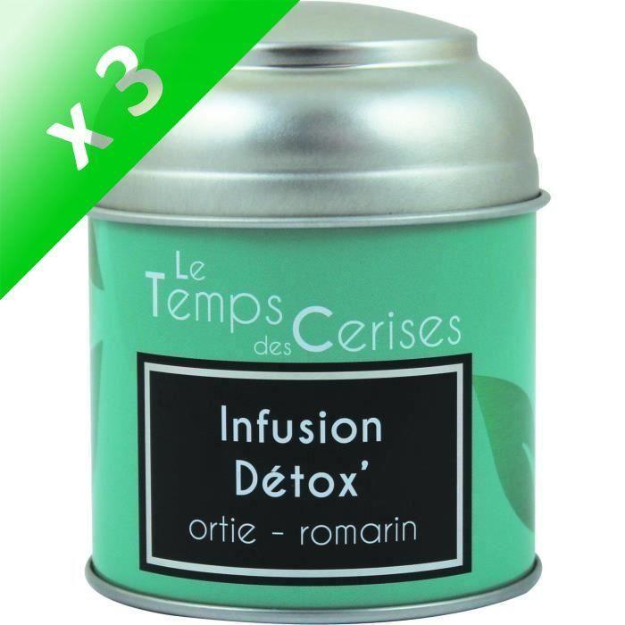 [LOT DE 3] LE TEMPS DES CERISES Infusion Detox Boite Métal 30g