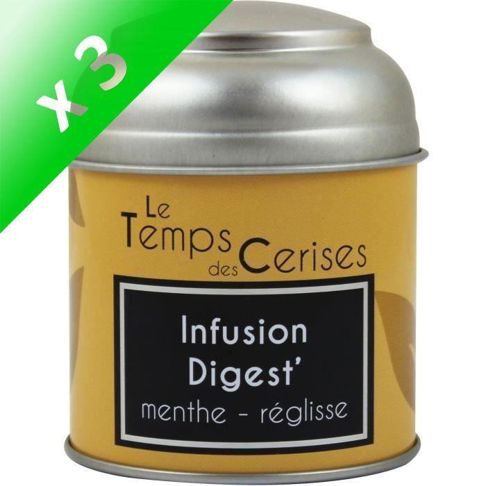 [LOT DE 3] LE TEMPS DES CERISES Infusion Digest Boite Métal 30g