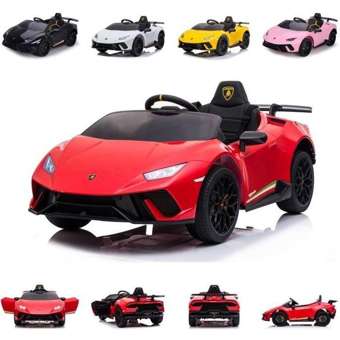 Chipolino voiture électrique enfants Lamborghini Huracan, télécommande, fonction [Rouge]