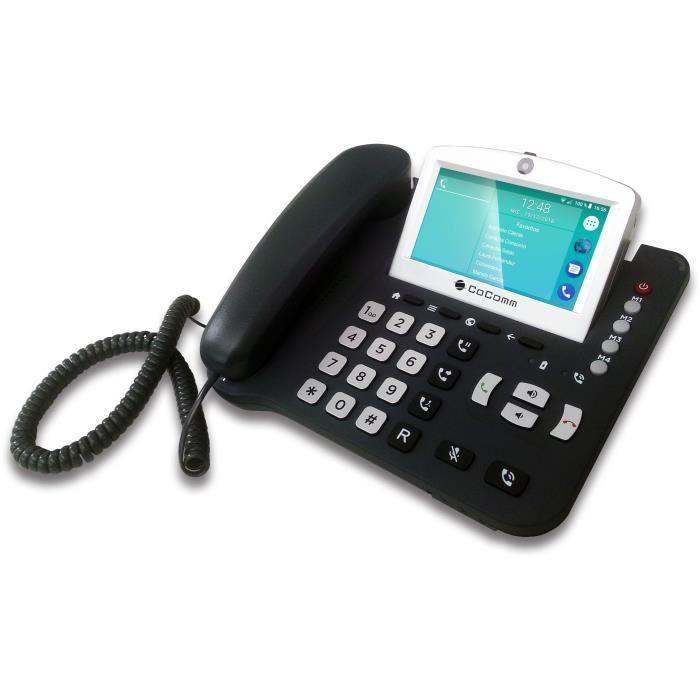 CoComm F840 Téléphone Filaire 4G - Noir